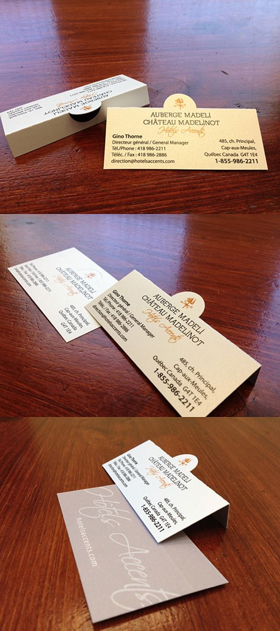 Folding Business Card