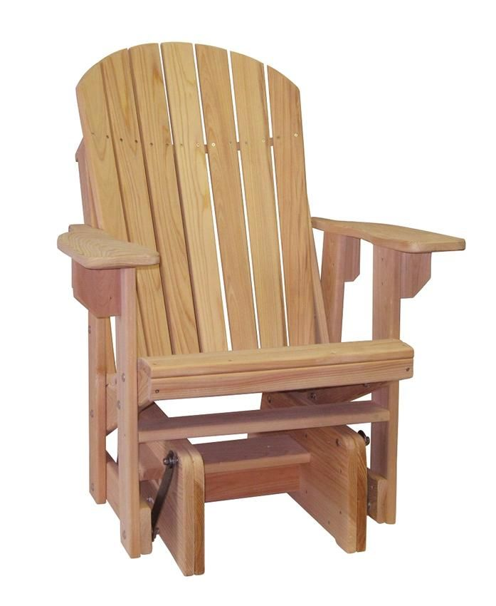 Cypress Outdoor Amish Adirondack Chair Single Glider