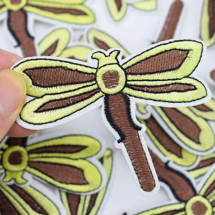 Aliexpress.com: Comprar 5 unids Libélula insectos parches insignias para la ropa de hierro parche bordado apliques de hierro en remiendo de costura accesorios de ropa de patches for clothing iron fiable proveedores en QingTang Commerce Company Store
