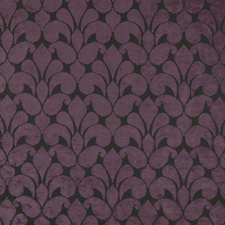 Warwick Fabrics : CALVIN, Colour PLUM