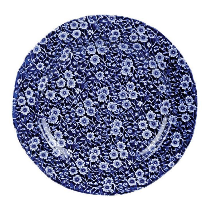 Burleigh Calico Blue Plate | Plates | Dining Room | Heal's