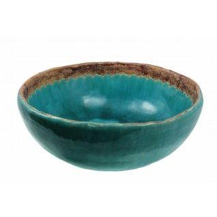 Melania   Keramische Waskom - Diep Turquoise
