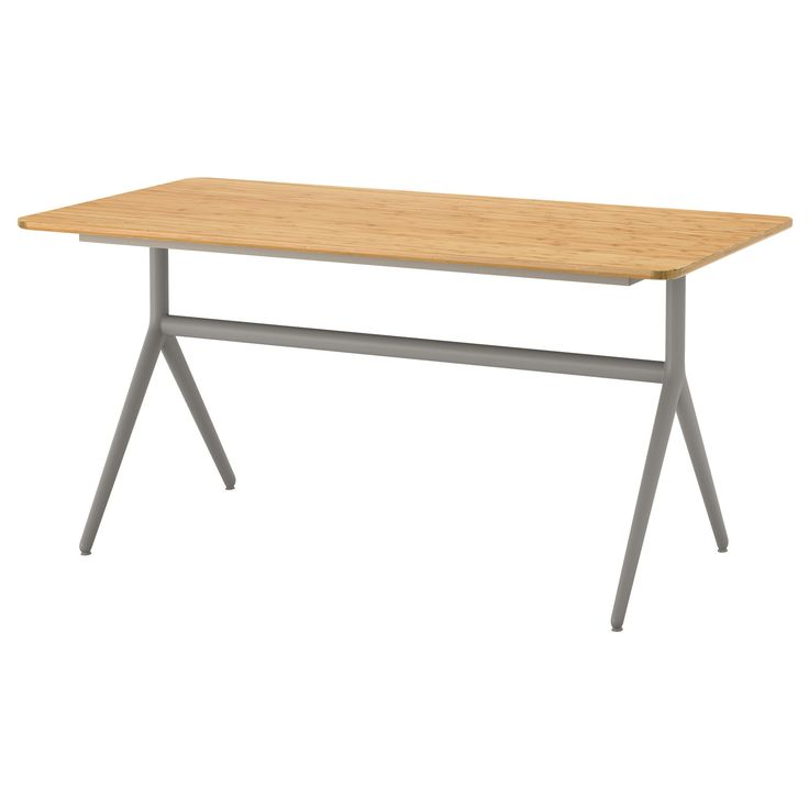 214 Vraryd Table White Bamboo Backaryd Bamboo White