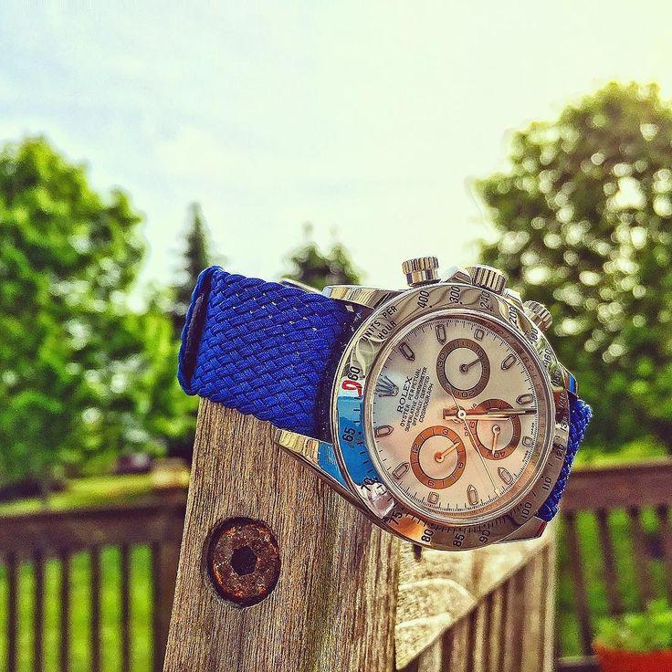 Friday is finally here!  A Perlon Woven Strap can make any watch look shape!: http://ift.tt/1xRiHKA: #strapyourwatch #Rolex #rolexdaytona #deck #watch #watches #watchporn #watchfam #watching #watchoftheday #watchnerd #wrist #wristtattoo #wristporn #wristwatch #wristgame #wristshot #wristshot #watchesofinstagram #watchofinstagram #woyw #nato #natostrap #nature #naton #philadelphia #phillies #perlon #perlonstrap by strapyourwatch #rolex #daytona #rolexdaytona #watchesformen