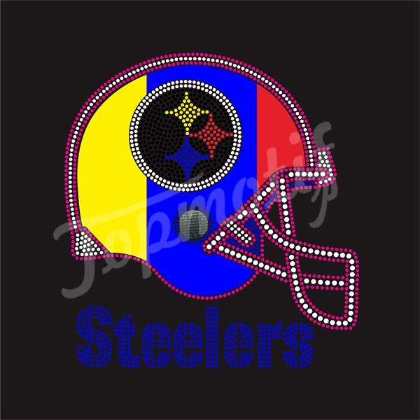 168 best images about sports team symbol rhinestone for Custom t shirt transfers