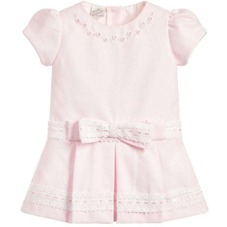 Pretty Originals Girls Pale Pink Dress at Childrensalon.com