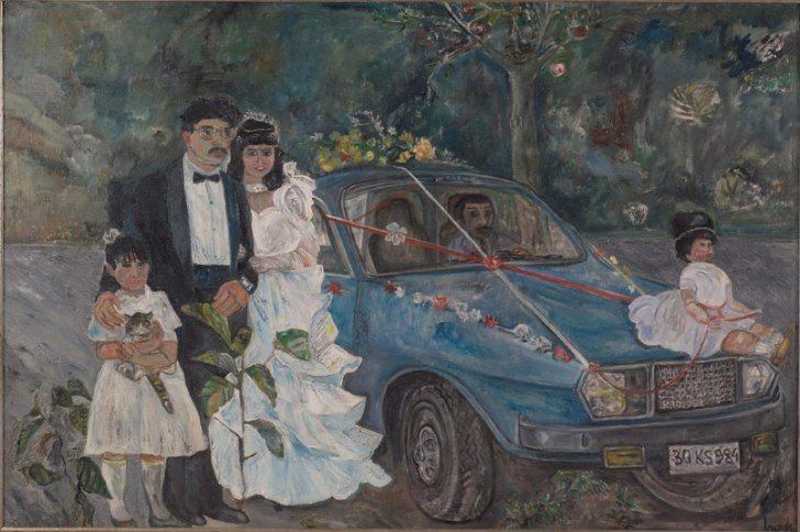 Cihat Burak (1915 – 1994) Telli Babada Gelinle Damat ile ilgili görsel sonucu