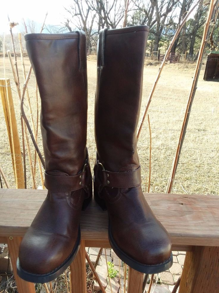 Soda Brown Women's Harness Boots Pull On Size 7.5 M | Clothing, Shoes & Accessories, Women's Shoes, Boots | eBay!