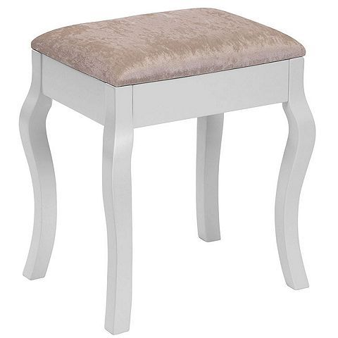 Tesco direct: Beautify Padded Dressing Table Stool - White