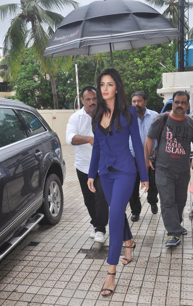 Katrina Kaif arrives for the trailer launch of 'Phantom'.