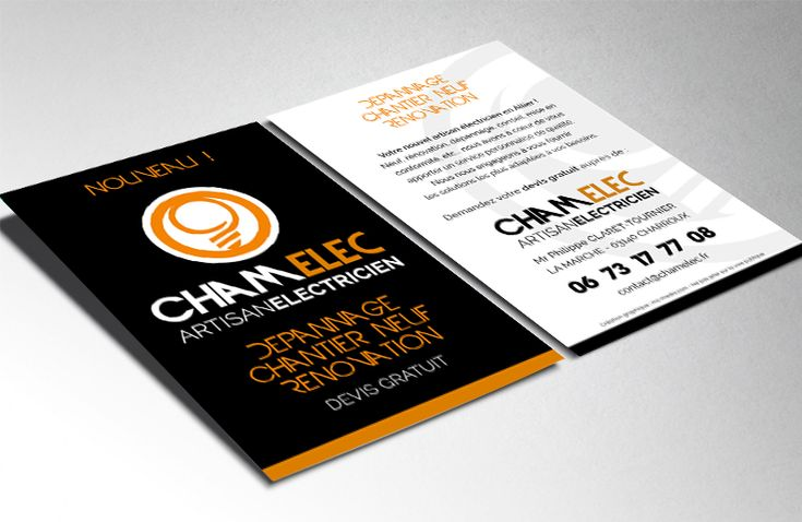 Création de flyer pour l'entreprise Chamelec