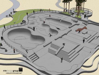 indoor/outdoor skate park