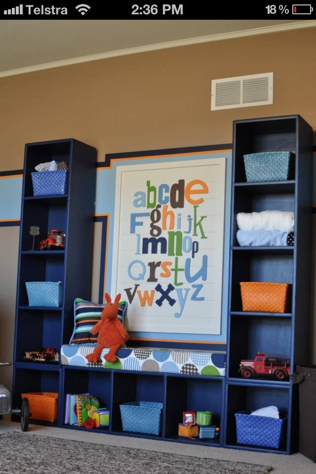 Kids room idea for storage...maybe just the bottom part for under their window