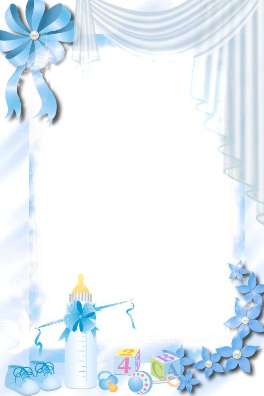 Transparent Blue PNG Baby Frame