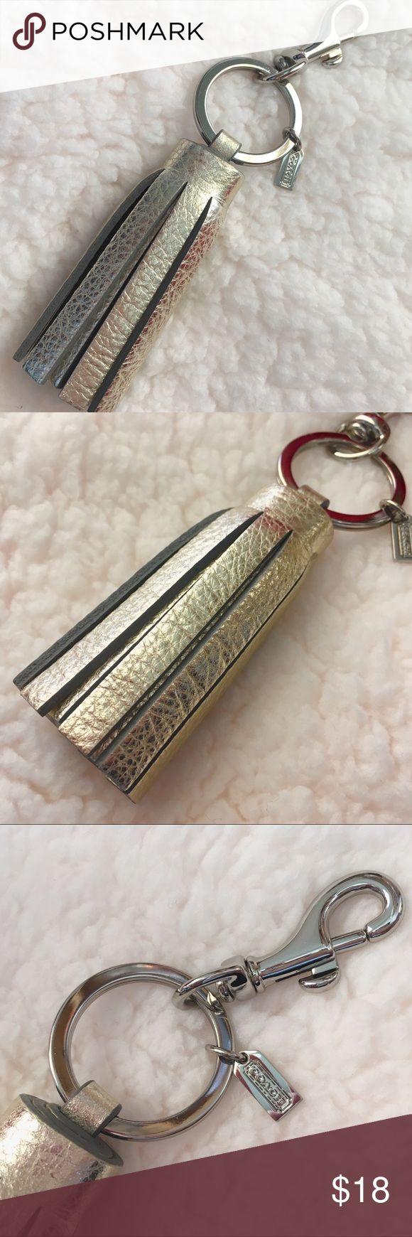 Coach legacy Tassel key ring Coach legacy Tassel key ring Coach Accessories Key & Card Holders