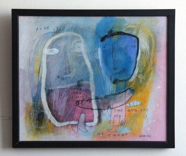"""Saatchi Art Artist deny pribadi; Painting, """"lock & smile"""" #art"""