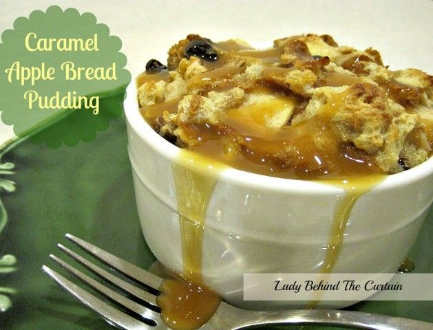 Carmel Apple Bread Pudding 1/2 cup butter, unsalted 3/4 cup packed brown sugar 1 cup heavy cream 3/4 cup milk 4 large eggs 2 teaspoons vanilla 1/2 teaspoon salt 3 apples, cored, peeled, chopped in chunks 1/2 cup raisins 1/2 cup pecans, chopped 3/4 loaf of Challah bread or French bread