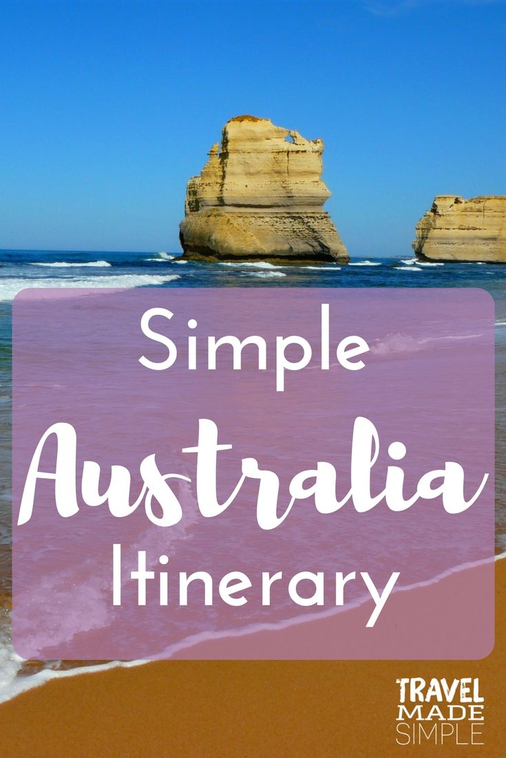Make your perfect personalized itinerary to see Australia with this list of places to start and how many days to think about spending in each.