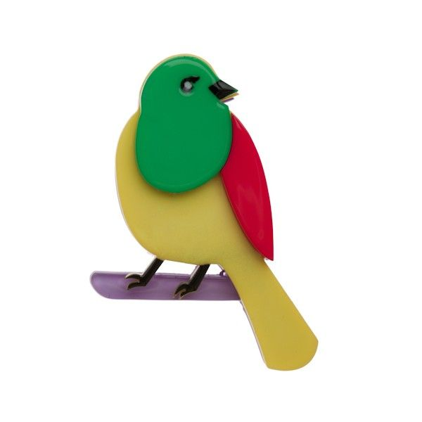 """Limited Edition Boppin' with Barney Brooch in multicolour. """"Barney boppin' on a branch... doing the Boppin' Barney dance! """""""