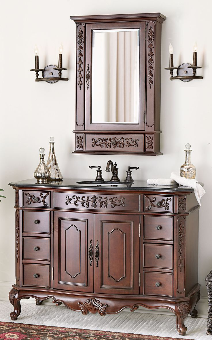 165 best bath images on pinterest bathroom ideas bath vanities plenty of drawers for storage and ornate detailing makes this a lovely bath collection homedecorators