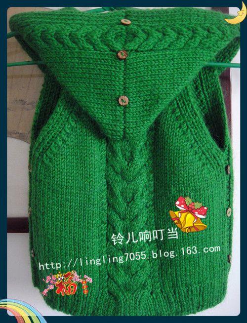 再织宝宝带帽小背心 - 瓷器铃铛 - 铃儿响叮当的博客