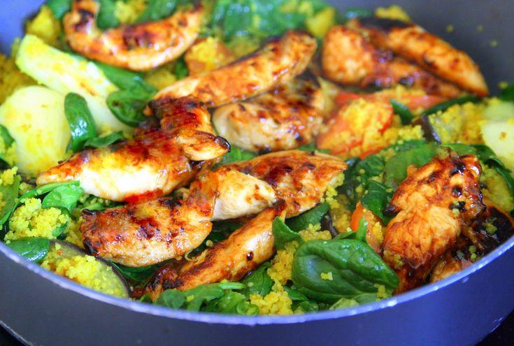 Chipotle & Garlic kyckling med mangosalsa och kryddig bulgur - Jennys Matblogg