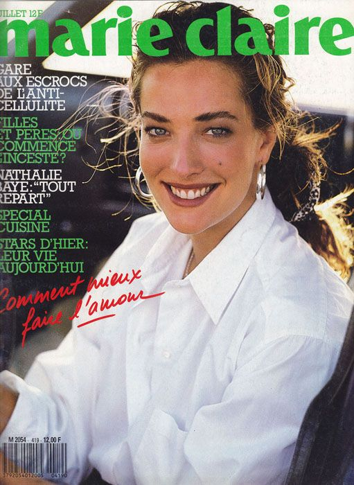 Tatjana Patitz by Peter Lindbergh - Marie Claire France July 1987