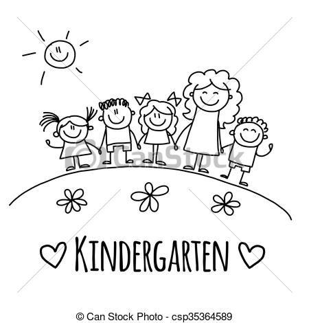 Stock de Ilustraciones - imagen, con, jardín de la infancia, o, escuela, niños - Ilustración surtida, ilustraciones libres de derechos de autor, icono de imágenes predeterminadas surtido, iconos de imágenes predeterminadas surtidos, logotipo, arte lineal, imágenes, gráfico, gráficos, dibujo, dibujos, obras de arte