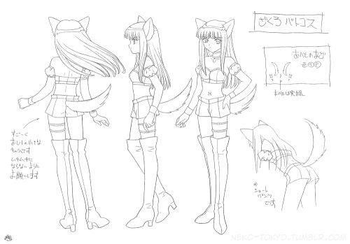 Tokyo Mew Mew Settei (Model Sheet)Zakuro Battle Costume