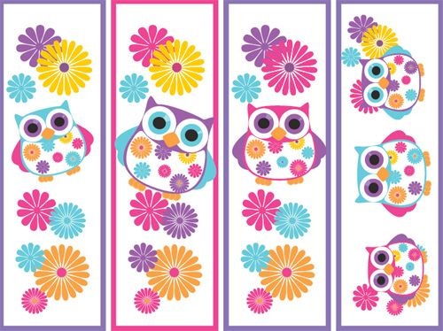 ~printable owl bookmarks
