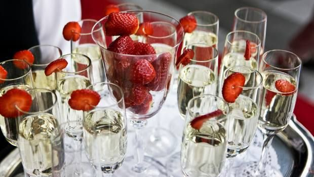 Strawberries + champagne!