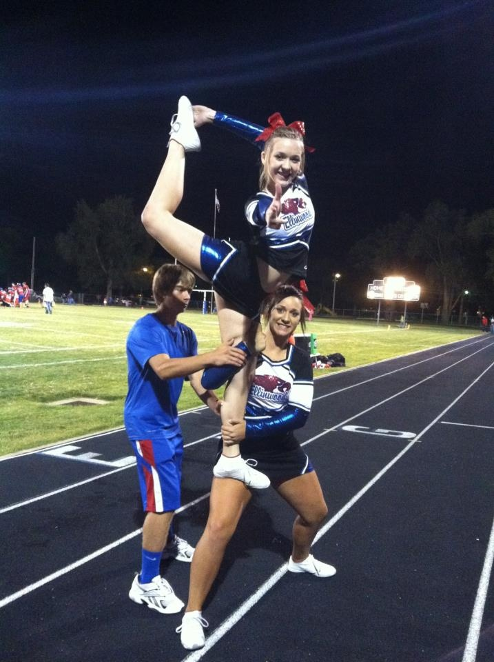 My Scorpion! <3 #cheer stunt competition cheerleading cheerleaders moved from Kythoni's Cheerleading: Stunts: Bow & Arrow, Heel Stretch, Scorpion & Scale  board http://www.pinterest.com/kythoni/cheerleading-stunts-bow-arrow-heel-stretch-scorpio/ m.71.8  #KyFun