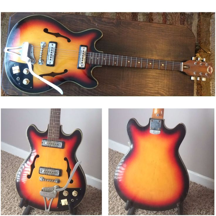 New Project-Teisco Del Ray EP-8T Hollow Body  Check it out at Eagle Creek Restorations on Facebook