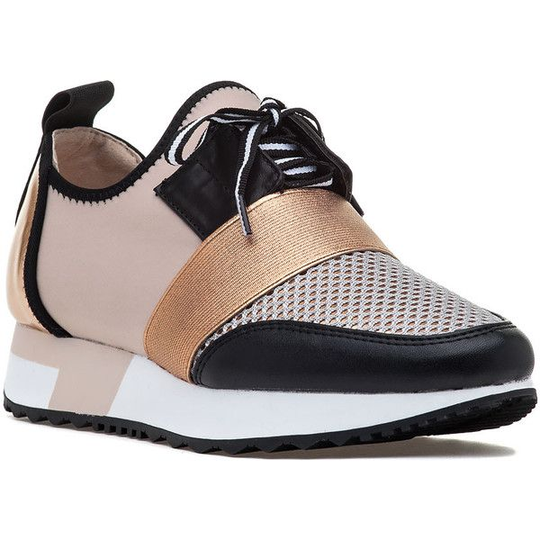 STEVE MADDEN Antics Sneaker Rose Gold (4.155 RUB) ❤ liked on Polyvore  featuring shoes