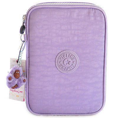 New-Kipling-100-Pens-Large-Pencil-Cases-Purple-Peony