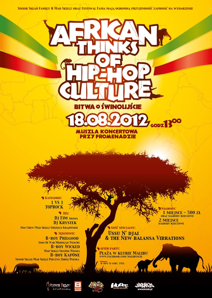 African Thinks Of HipHop Culture Poster