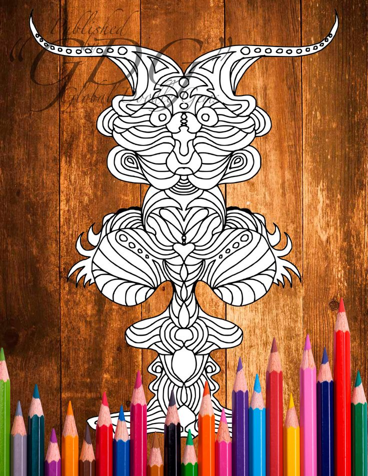 Weirdie 2 #Adult coloring page by AMVWART on Etsy