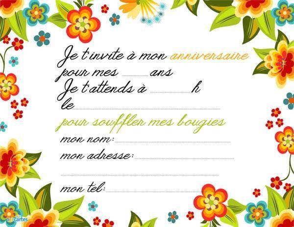 Invitation Anniversaire Assortiment De Fleurs 123 Cartes Idee Invitation Anniversaire Invitation Anniversaire Gratuite Invitation Anniversaire