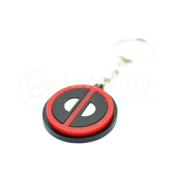 Deadpool Emblem Keychain by CutterflyStudio on Etsy