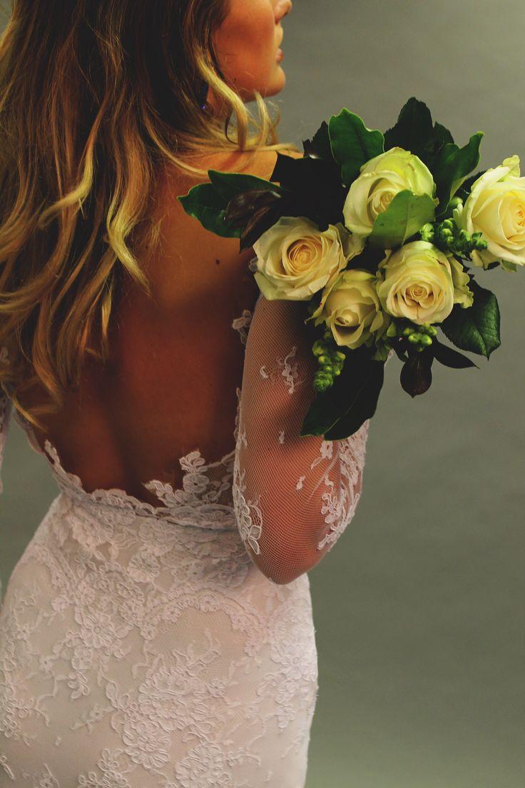 Completely open back #weddingdress