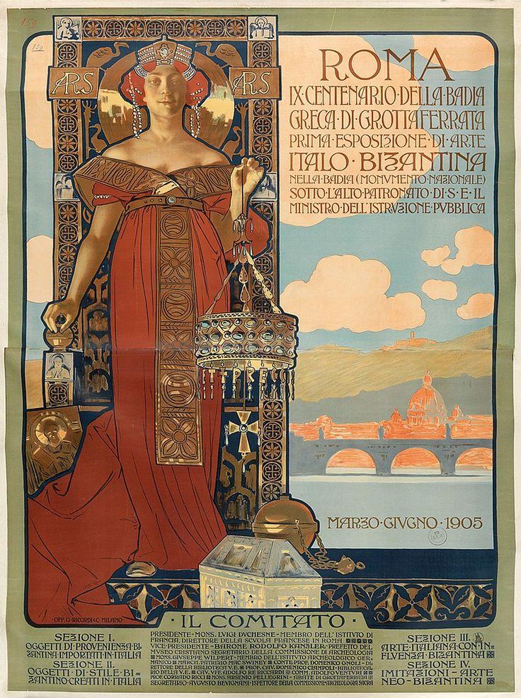 ATTRIBUTED TO ADOLFO HOHENSTEIN (1854-1928). ROMA. 1905. 80x57 inches, 203x144 cm. G. Ricordi & C., Milan.