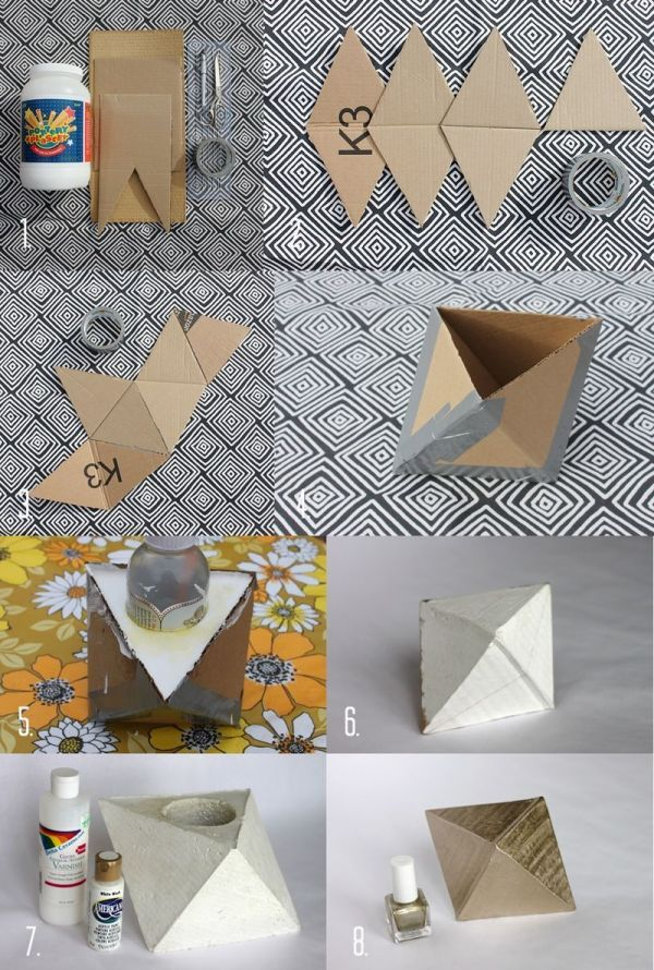 34 Cool and Modern DIY Concrete Projects - geometric concrete bookend