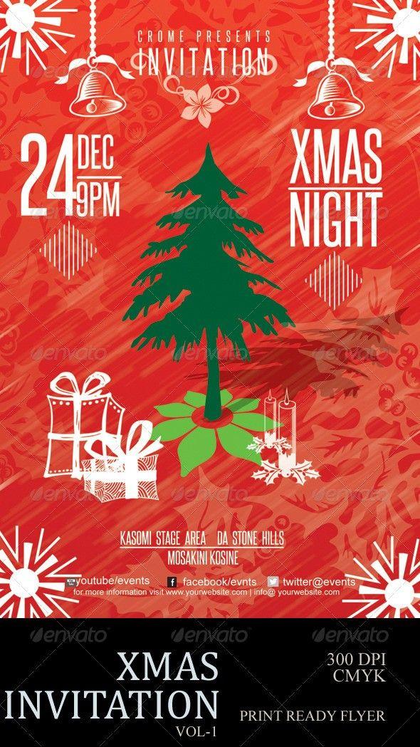 Christmas Christmas Flyer Christmas Tree Dec25th Flyer