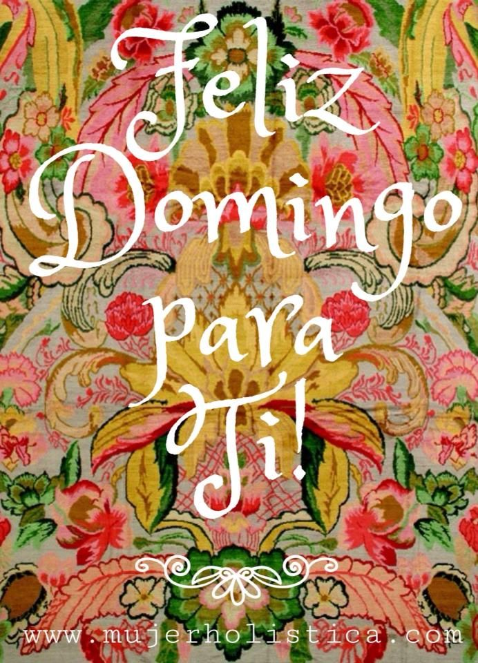 Feliz domingo girly have fun .. I will too but after work lol
