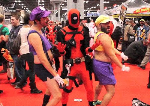 funny Deadpool cosplay | 15 Deadpool GIFs that will make you smile