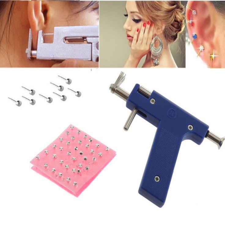 Professional Steel Ear Nose Navel Body Piercing Gun 72pcs Studs Tool Kit Set W# #UnbrandedGeneric