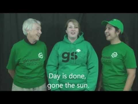 San Diego Girl Scouts sing Taps