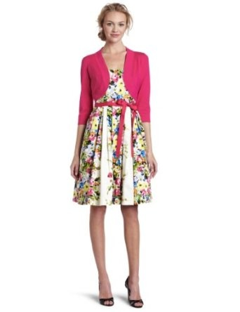 Jessica Howard Women's Bouquet Belted Dress