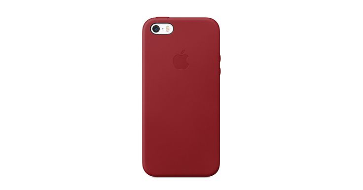 The Red Leather Case for iPhone SE is made from tanned European leather, for a luxurious feel and premium protection. Buy online now at apple.com.