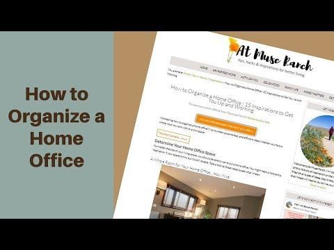 How to Organize a Home Office - YouTube -Wondering how to organize a home office? I've rounded up some easy and efficient ideas whether you have a whole room to work with or a tiny space.